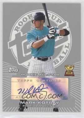 2005 Topps Rookie Cup - Autograph - Silver #RC-MK - Mark Kotsay /5