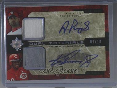 2005 Ultimate Collection - Dual Materials - Autograph [Autographed] #UD-PG - Albert Pujols, Ken Griffey Jr. /10