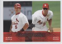 Albert Pujols, Scott Rolen (Last Text Line Begins with Cardinals)