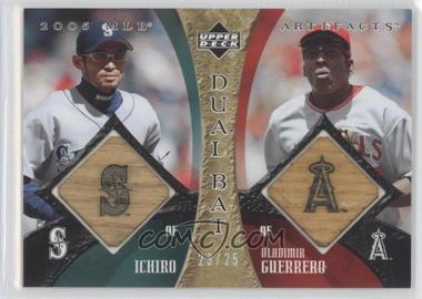 2005 Upper Deck Artifacts - Dual Bats #DB-SG - Ichiro Suzuki, Vladimir Guerrero /25