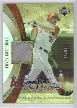2005 Upper Deck Artifacts - MLB Apparel - Rainbow Autographs [Autographed] #MLB-CK - Casey Kotchman /30
