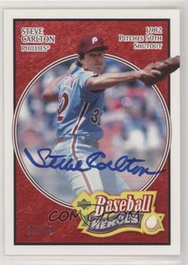 2005 Upper Deck Baseball Heroes - [Base] - Red Signatures [Autographed] #76 - Steve Carlton /49