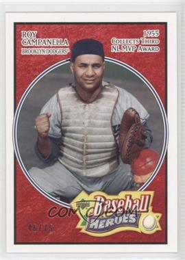 2005 Upper Deck Baseball Heroes - [Base] - Red #177 - Roy Campanella /75