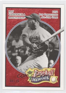 2005 Upper Deck Baseball Heroes - [Base] - Red #179 - Roy Campanella /75