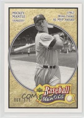 2005 Upper Deck Baseball Heroes - [Base] #163 - Mickey Mantle /575
