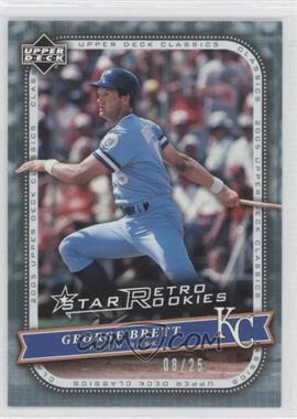 2005 Upper Deck Classics - [Base] - Rainbow #115 - George Brett /25