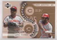 Tony Perez, Ken Griffey Sr. [EXtoNM] #/1,999