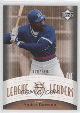 2005 Upper Deck Classics - League Leaders #LL-AD - Andre Dawson /999