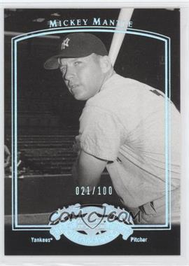 2005 Upper Deck Past Time Pennants - [Base] - Silver #56 - Mickey Mantle /100