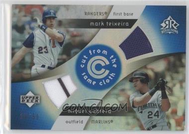 2005 Upper Deck Reflections - Cut from the Same Cloth - Blue #CC-TC - Mark Teixeira, Miguel Cabrera /50