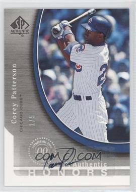2005 Upper Deck SP Collection - SP Authentic Honors - Signatures [Autographed] #SH-CP - Corey Patterson /5