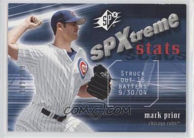 2005 Upper Deck SP Collection - SPXtreme Stats #SS-MP - Mark Prior /299