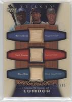 Bo Jackson, Torii Hunter, Alex Rios #/85