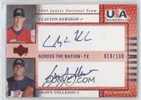 Clayton Kershaw, Shawn Tolleson #/100