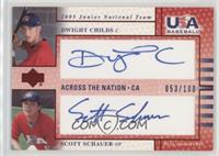 Dwight Childs, Scott Schauer #/100