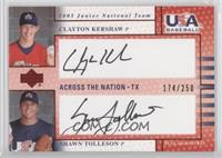 Clayton Kershaw, Shawn Tolleson #/250