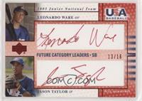 Leonardo Ware, Jason Taylor #/16