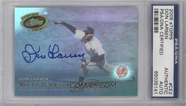 2005 eTopps Classic Events - [Base] #CE2 - Don Larsen [PSA/DNA Certified Auto]