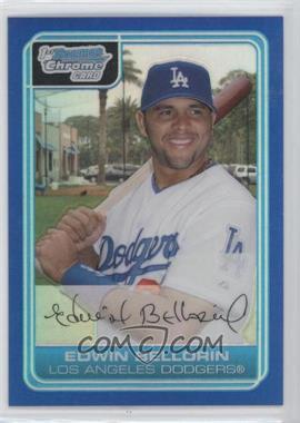 2006 Bowman Chrome - Prospects - Blue Refractor #BC12 - Edwin Bellorin /150