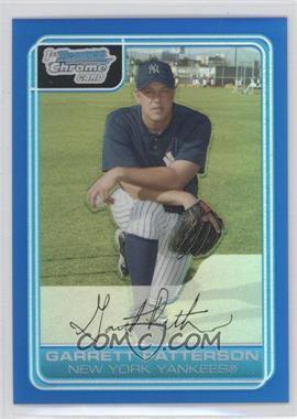 2006 Bowman Chrome - Prospects - Blue Refractor #BC133 - Garrett Patterson /150