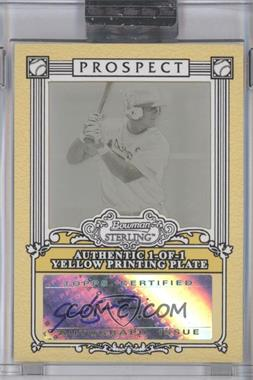 2006 Bowman Sterling - Prospect Certified Autographs - Framed Printing Plate Yellow [Autographed] #BSP-JS - Jarrod Saltalamacchia /1