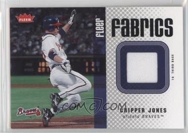 2006 Fleer - Fabrics #FF-CJ - Chipper Jones