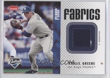 2006 Fleer - Fabrics #FF-GR - Khalil Greene