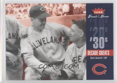 2006 Fleer Greats of the Game - Decade Greats #DEC-EA - Earl Averill