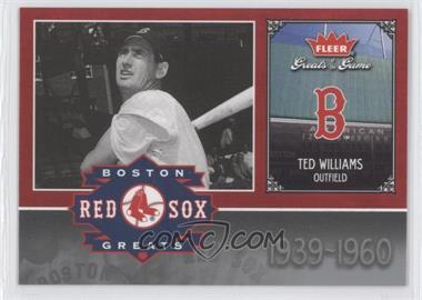 2006 Fleer Greats of the Game - Red Sox Greats #BOS-TW - Ted Williams
