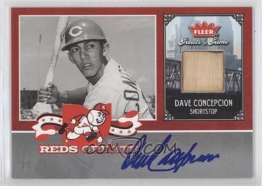 2006 Fleer Greats of the Game - Reds Greats - Memorabilia Autographs #CIN-DC - Dave Concepcion /10