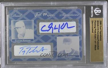 2006 Just Minors - Dual Signatures - Printing Plate Black Autographed #DS06.519 - Clayton Kershaw, Troy Tulowitzki /1 [Uncirculated]