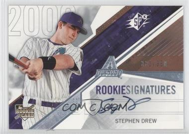 2006 SPx - [Base] #107 - Rookie Signatures - Stephen Drew /350