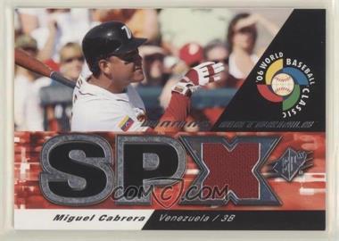 2006 SPx - WBC Winning Materials #WM-MC - Miguel Cabrera