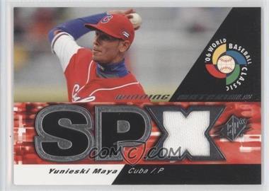 2006 SPx - WBC Winning Materials #WM-YM - Yunieski Maya