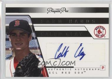 2006 TRISTAR Prospects Plus - Farm Hands Autographs #FH 12 - Caleb Clay