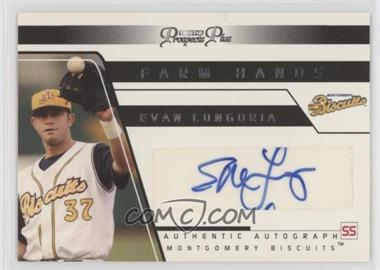 2006 TRISTAR Prospects Plus - Farm Hands Autographs #FH 29 - Evan Longoria