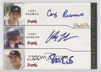 Cody Ransom, Cody Johnson, Steve Evarts #/5