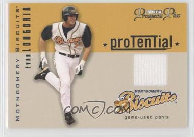 2006 TRISTAR Prospects Plus - Protential - Game Used [Memorabilia] #P-EL - Evan Longoria