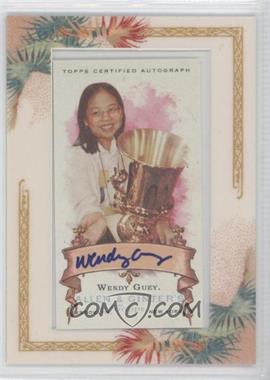 2006 Topps Allen & Ginter's - Framed Mini Autographs - [Autographed] #AGA-WG - Wendy Guey