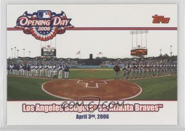 2006 Topps Opening Day - 2006 #OD-DB - Atlanta Braves vs. Los Angeles Dodgers