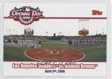 2006 Topps Opening Day - 2006 #OD-DB - Atlanta Braves vs. Los Angeles Dodgers