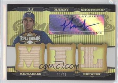 2006 Topps Triple Threads - Relic Autographs - Gold #TTRA-46 - J.J. Hardy /9