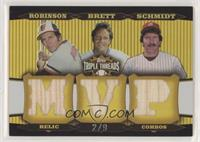 Brooks Robinson, George Brett, Mike Schmidt #/9