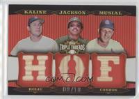 Al Kaline, Reggie Jackson, Stan Musial /18