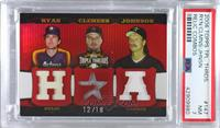 Nolan Ryan, Roger Clemens, Randy Johnson [PSA 7 NM] #/18