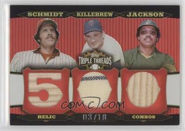 2006 Topps Triple Threads - Relic Combos #TTRC-70 - Mike Schmidt, Harmon Killebrew, Reggie Jackson /18