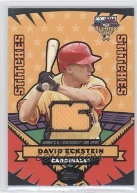 2006 Topps Updates & Highlights - All-Star Stitches #AS-DE - David Eckstein