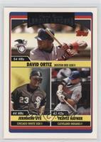 League Leaders - Jermaine Dye, David Ortiz, Travis Hafner