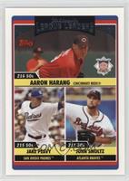 League Leaders - Aaron Harang, Jake Peavy, John Smoltz