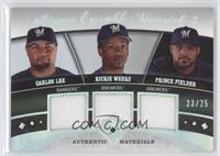 Carlos Lee, Rickie Weeks, Prince Fielder /25